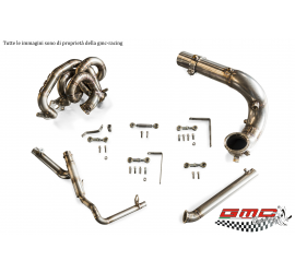 COLLETTORE IN INOX PER 1.4 T-JET ABARTH, FIAT, ALFA E LANCIA ATTACCO TURBO SERIE G CON KIT DOWNPIPE E MANICOTTO ACQUA