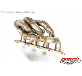 COLLETTORE IN INOX PER 1.4 T-JET ABARTH, FIAT, ALFA E LANCIA ATTACCO TURBO TD04 CON WASTEGATE ESTERNA  CON KIT DOWNPIPE
