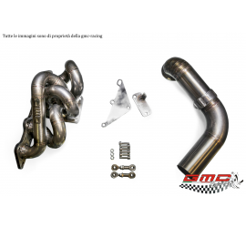 COLLETTORE IN INOX PER MITSUBISHI LANCER EVO VI-VII-VIII-IX CON ATTACCO TURBO T4 TWINSCROLL PER TURBO EFR