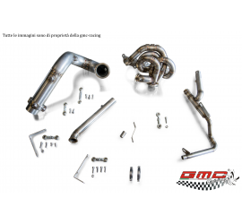 COLLETTORE IN INOX PER 1.4 T-JET ABARTH, FIAT, ALFA E LANCIA CON WASTEGATE ESTERNA CON KIT DOWNPIPE E MANICOTTO ACQUA